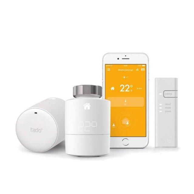 ado° Smartes Heizkörper-Thermostat Starter Set mit 2 Thermostaten + Bridge