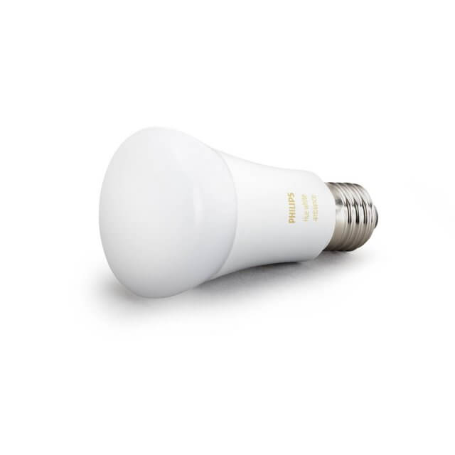 Philips Hue White Ambience E27 LED-Lampe in weiß liegend