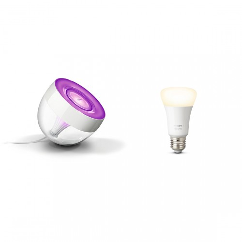 Philips Hue LivingColors Iris - LED-Tischleuchte + White E27 Bluetooth Lampe