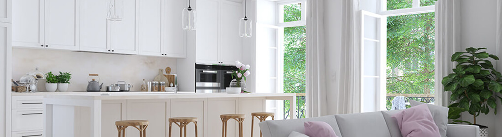 Küche ausgestattet mit smarter OPUS Beleuchtung