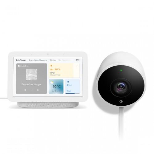 Google Nest Cam Outdoor + Google Nest Hub (2. Generation)