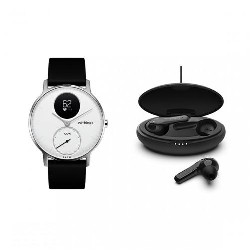 Withings Steel HR Smartwatch + Belkin SOUNDFORM Move