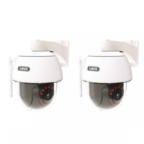 ABUS Smart Security World WLAN Schwenk-/ Neige-Außenkamera 2er-Set