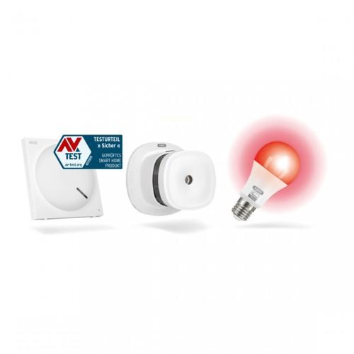 ABUS Z-Wave Sicherheits-Set Schutz vor Brandschäden - Rauchmelder, Lampe + Gateway