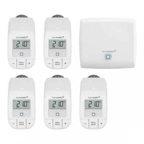 Homematic IP Access Point + Heizkörperthermostat basic 5er-Set