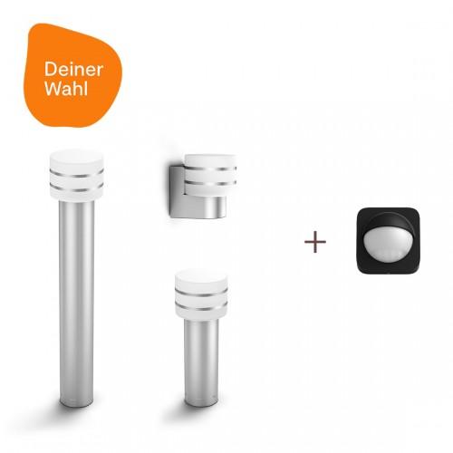Philips Hue Tuar 3er-Pack Deiner Wahl + Outdoor Sensor