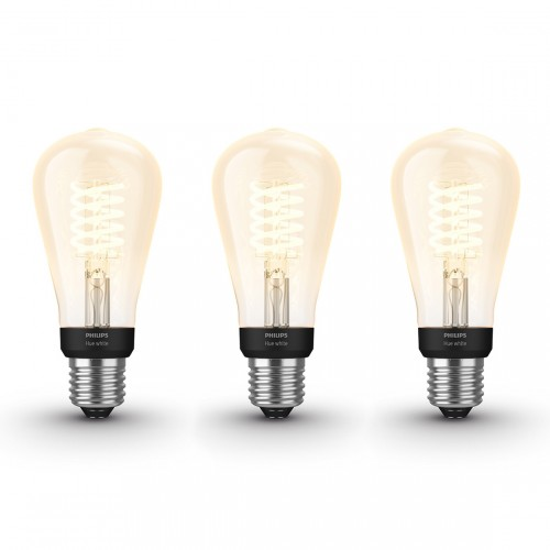 Philips Hue White Filament Edison E27 Bluetooth 3er Pack