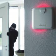 devolo Home Control Alarmsirene an Wand mit aktiver Sirene