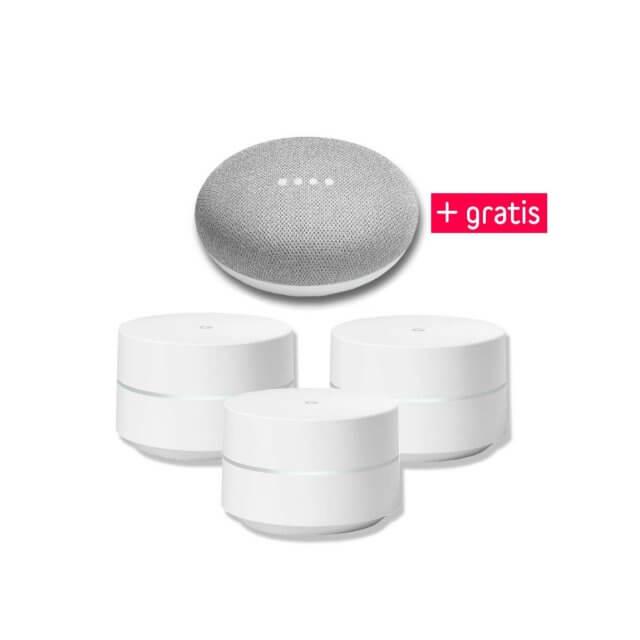 Google Wifi 3er Pack + gratis Google Home Mini