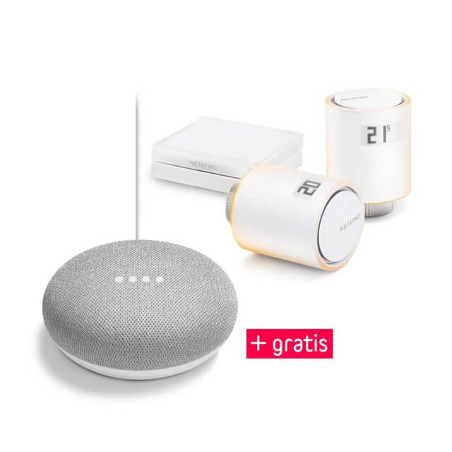 Netatmo Thermostate 2er Starter Set + gratis Google Home Mini