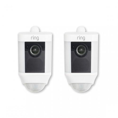 Ring Spotlight Cam Battery Doppelpack - Überwachungsamera mit Leuchten und Sirene, kabellos