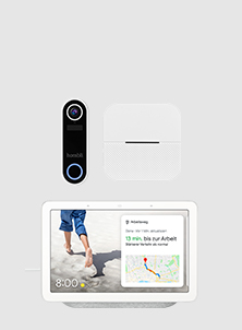 Hombli Smart Doorbell und Google Nest Hub
