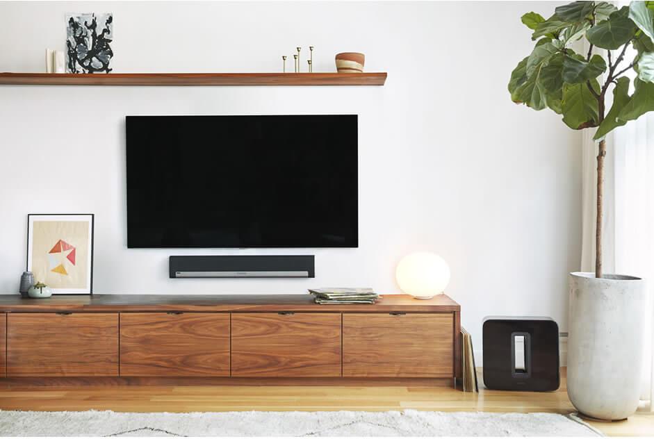 Sonos Soundsystem im Wohnzimmer
