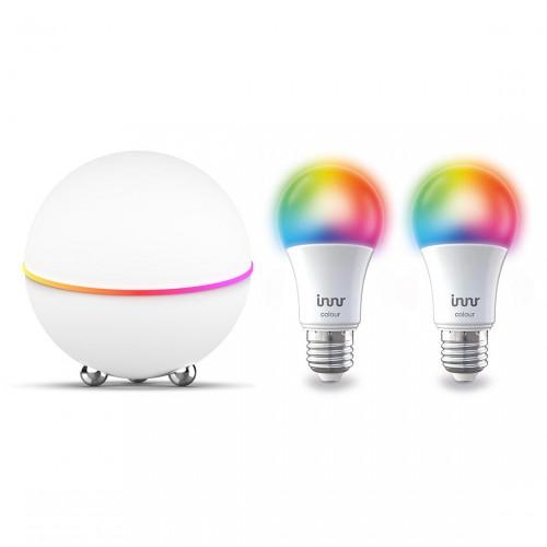 Homey Pro + Innr RB 285 C Smart LED Lampe E27 Color - 2er-Set