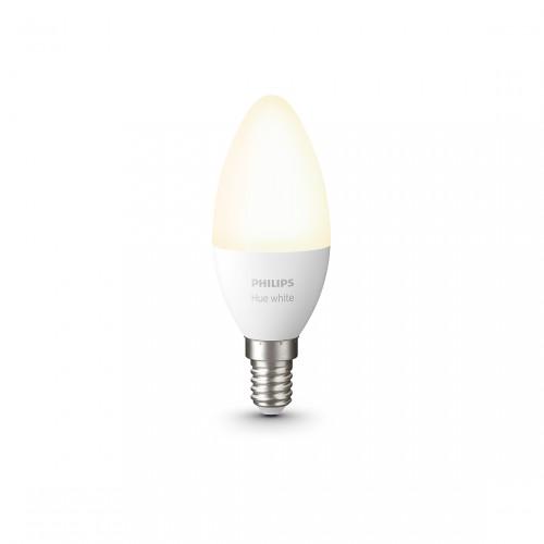 Philips Hue White E14 Bluetooth - LED-Kerze eingeschaltet