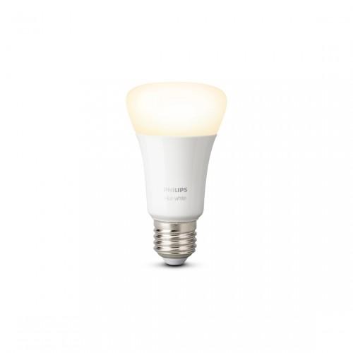 Philips Hue White E27 BLT Licht an frontale Ansicht