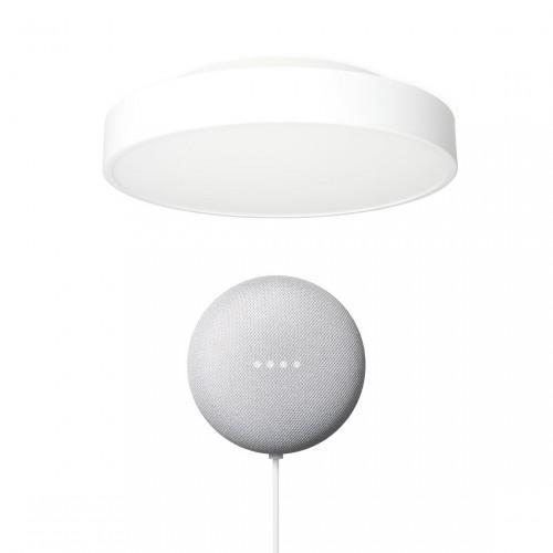 Yeelight LED Deckenleuchte (Weiß) + Google Nest Mini