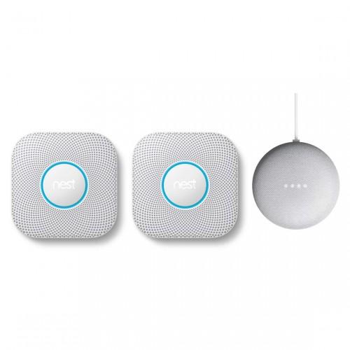 Google Nest Protect 2er-Pack + gratis Google Nest Mini