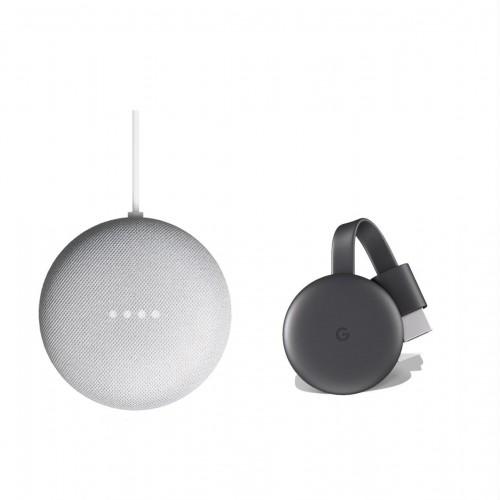 Google Nest Mini + Google Chromecast