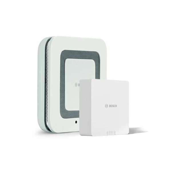 Bosch Smart Home Twinguard Starter-Set - Rauchwarnmelder mit Luftgütesensor